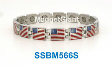 American Flag - High Power Magnetic Alloy Link Bracelet - ABM566S