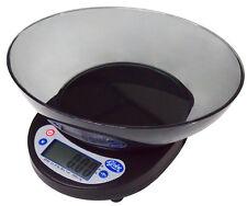 Globe 5lb Digital Portion Control Scale With Plastic Platter Bowl - GPS5