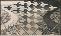 M.C. Escher Day and Night Giclee Canvas Print Paintings Poster Reproduction