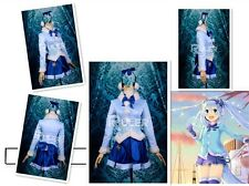 Vocaloid Project Diva Snow Miku Light Winter Coat Cosplay Costume UK