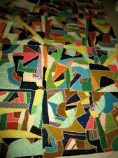 SUPER NICE LARGE BLANKET QUILT PATCHWORK VERY GOOD CONDITION 82X92 A MUST HAVE