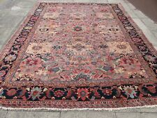 Antique Worn Hand Made Traditional Oriental Wool Pink Large Carpet 355x277cm