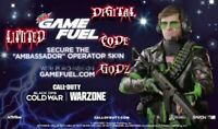 LIMITED Call of Duty Black Ops Cold War GAMEFUEL AMBASSADOR ADLER SKIN 🔥
