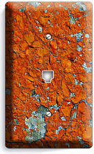 Rustic Cracked Rust Rusted Telephone Phone Jack Wall Plate Cover Man Cave Garage