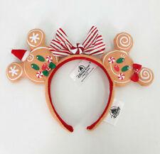Minnie Ears Bow Disneyland 2020 Christmas Gingerbread Disney Parks Headband