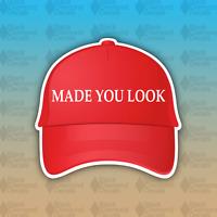 "Made You Look MAGA America Red Hat Trump Funny 4"" Custom Vinyl Bumper Sticker"