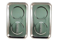 "2 x Professional Magnetic Stainless Steel Parts Tray Holder Dish   9.5"" X  5.5"""