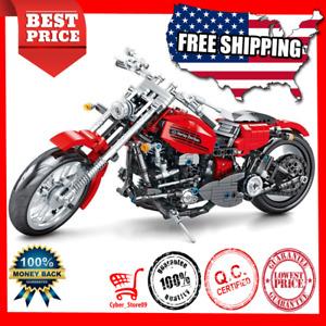 DIY 782pcs Harley Racing Motorcycle Technic Building Blocks Bike Toy Brick Gift