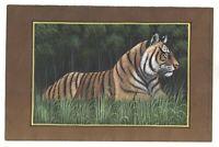 Bengala Tigre Pintura Miniatura Papel Hecho Decoración de Pared Agua Color