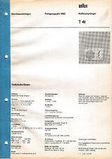 Service Manual-Anleitung für Braun T 41