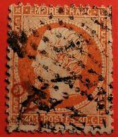 France Empire dentelé  oblitéré, n°23 c (TB- 949-1) rare  3 cachets visibles