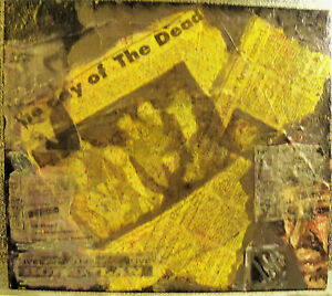 """""""BOB DYLAN/DAY OF THE DEAD"""" BY RUTH FREEMAN MIXED MEDIA/STRETCHED CANVAS 14""""X16"""""""