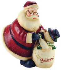 Blossom Bucket-Santa with Snowman