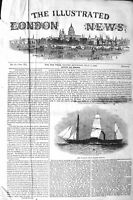 Original Old Antique Print 1843 Her Majesty Queen Steam Friagte Penelope Ship