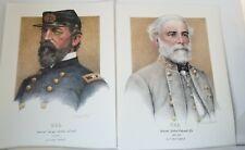 GENERAL ROBERT E. LEE & GEORGE MEADE art prints by Mike Gnatek 1990