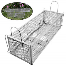 Home Mouse Trap, Humane Live Mouse Cage Trap for Mice, Rats, Silver