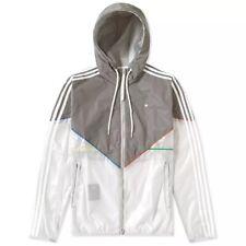 adidas Originals Men's Lux Colorado Hooded Windbreaker Jacket Reflective Grey