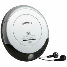 Groov-e Retro Personal CD Player with LCD Display,Anti skip & head phones