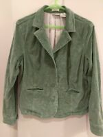 St. John's Bay size L green stretch corduroy blazer
