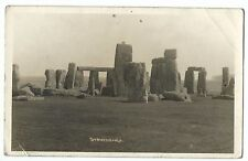 Stonehenge RP PPC Salisbury PMK 1939, By Burgess Bros, Local Photographer