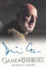 GAME OF THRONES SEASON 4 - DOMINIC CARTER (JANOS SLYNT) FULL BLEED AUTOGRAPH