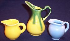 Vintage Lot of 3 Miniature Collectible Pottery Pitchers