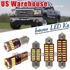 10-pc Pure White LED inside Light Interior Package Map Kit Fit 07-14 GMC Sierra