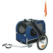 DOGGYHUT Remorque de vélo pour animaux chien Remorque de Velo pour chien BLEU