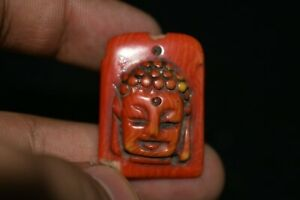 A Very Lovely Ancient Buddhist Coral Pendant 100% Authentic