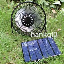 6'' Fan Powered By 3.5W Solar Panel For Cooling Greenhouse RV Air Ventilation