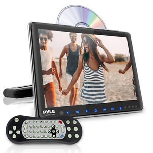 Pyle Vehicle Headrest Mounted 10.5 Inch Multimedia CD DVD USB Player (Open Box)