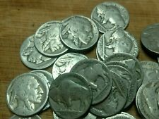 Buffalo nickel 40 coin roll - dateless or unclear dates - NO culls!