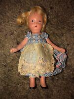 """Vintage Nancy Ann Storybook Bisque Doll Blonde 5.5"""""""