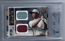 2003 UD Game Used Authentic Fabrics Duals CARD #98/100 Tiger Woods BGS MINT 9