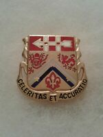 Authentic US Army 3rd Artillery Unit DI DUI Crest Insignia E-23