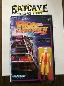 """Back To The Future 2 Future Doc Brown 3.75"""" ReAction Figure New Super 7"""