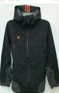 Adidas 3 Layer 20K Snowboard Jacket Utility Black/Signal Orange FJ7502  Size 2XL