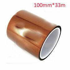 100mm x 33M Kapton Tape High Temperature Heat Resistant Polyimide