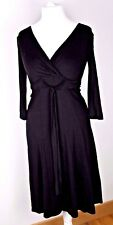 LK Bennett Super Soft V neck black dress Size 10 Career work