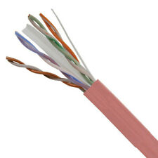 CAT6E Ethernet 550MHz Riser CMR Cable Pink 1000FT - 23 AWG BARE COPPER