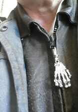 skull hand zip pull+4 skull zip pulls vest extenders#24