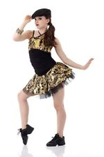 Camouflage Jazz Dance Costume - Can't Hold Us Gold - Adult Medium