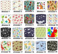 Lampshades Ideal To Match Dinosaur Wallpaper, Dinosaur Duvet & Dinosaur Wall Art