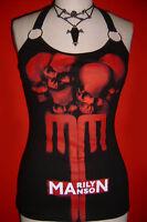 MARILYN MANSON diy halter top metal rock music concert shirt XS S M L XL
