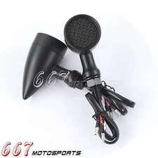 Black LED Mini Bullet Turn Signal Brake Light Lamp For Chopper Bobber Cafe Racer