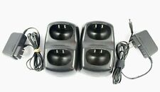 Motorola Ch610E2 Dual Radio Battery Charger Stand with Power Supply (Lot of 2)
