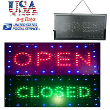 US 2in1 Open&Closed LED Sign Store Shop Business Display Neon 9.8*20.47*0.8in 8W