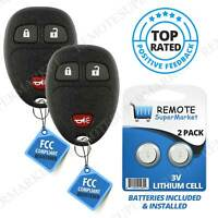 2 New 3 Button Replacement Keyless Entry Remote Key Fob For KOBGT04A 15777636