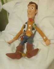 "Toy Story WOODY Sheriff Pull String Talking 15"" Doll Pixar Disney Store NO HAT"