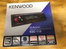 NEW KENWOOD KDC-118 Single DIN Car Stereo CD/MP3 Receiver KDC118